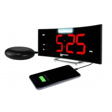 Wake n Shake Curve Alarm Clock with under pillow shaker GWNSC