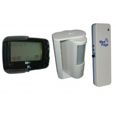 NMDTX-CTPIRK PIR sensor with POCSAG long-range transmitter & data pager
